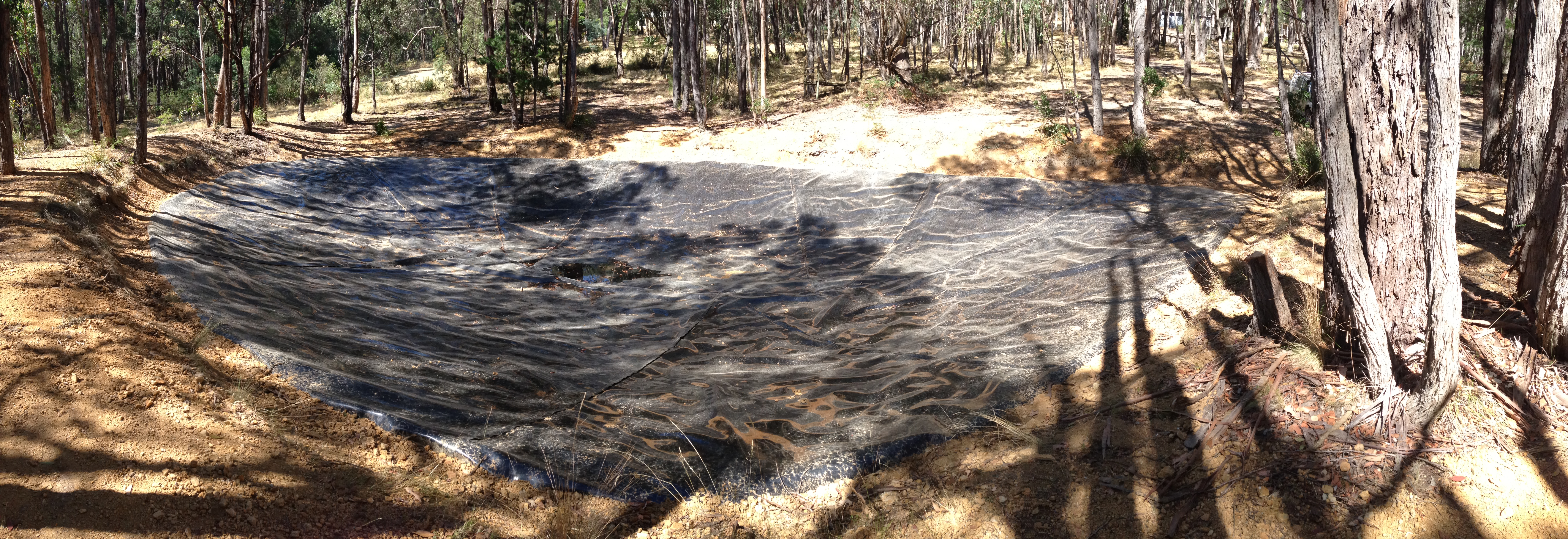 Two ornamental dams lined in romsey geoline for Ornamental pond liners